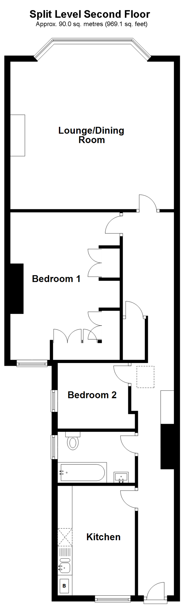 Split Level Second Floor