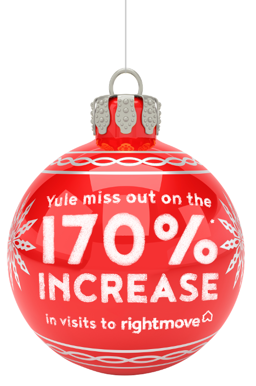 bauble graphic | Yule miss out on the 220% increase in visits to Righmove