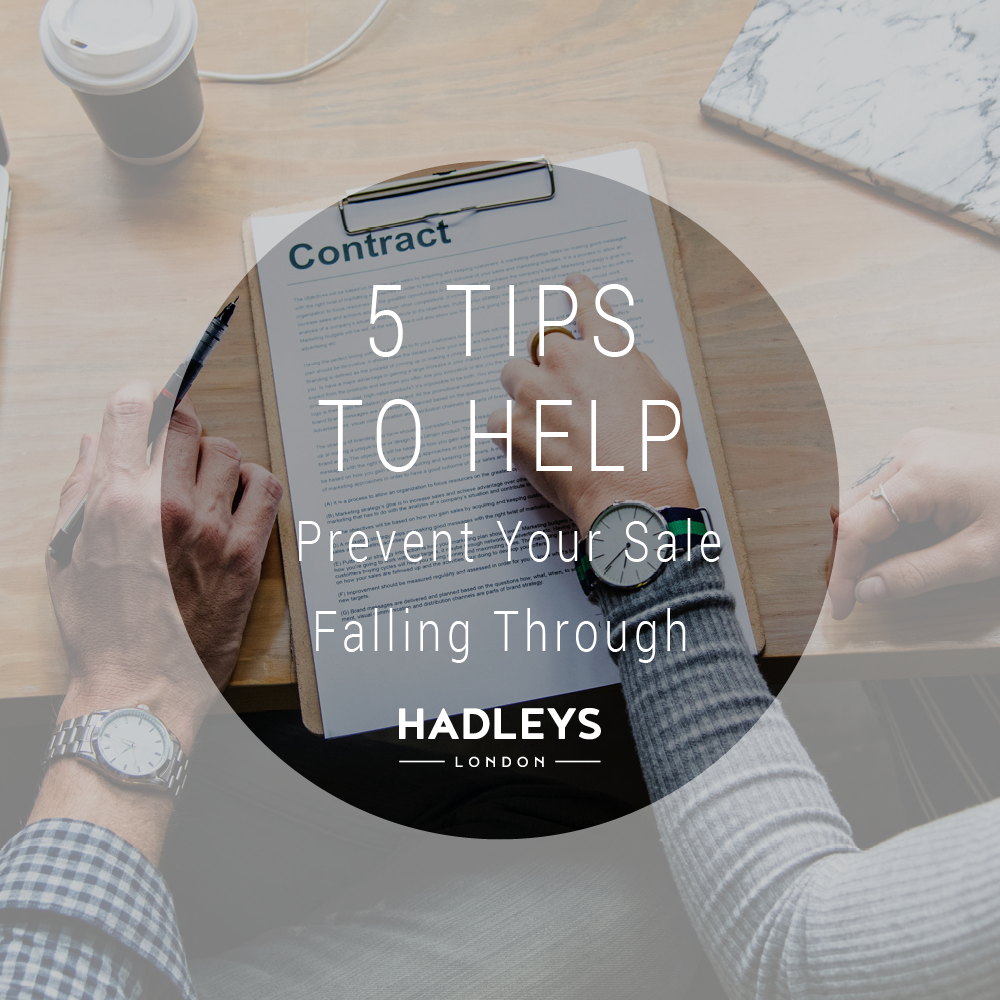 5 Tips to Help Prevent Your Sale Falling Through