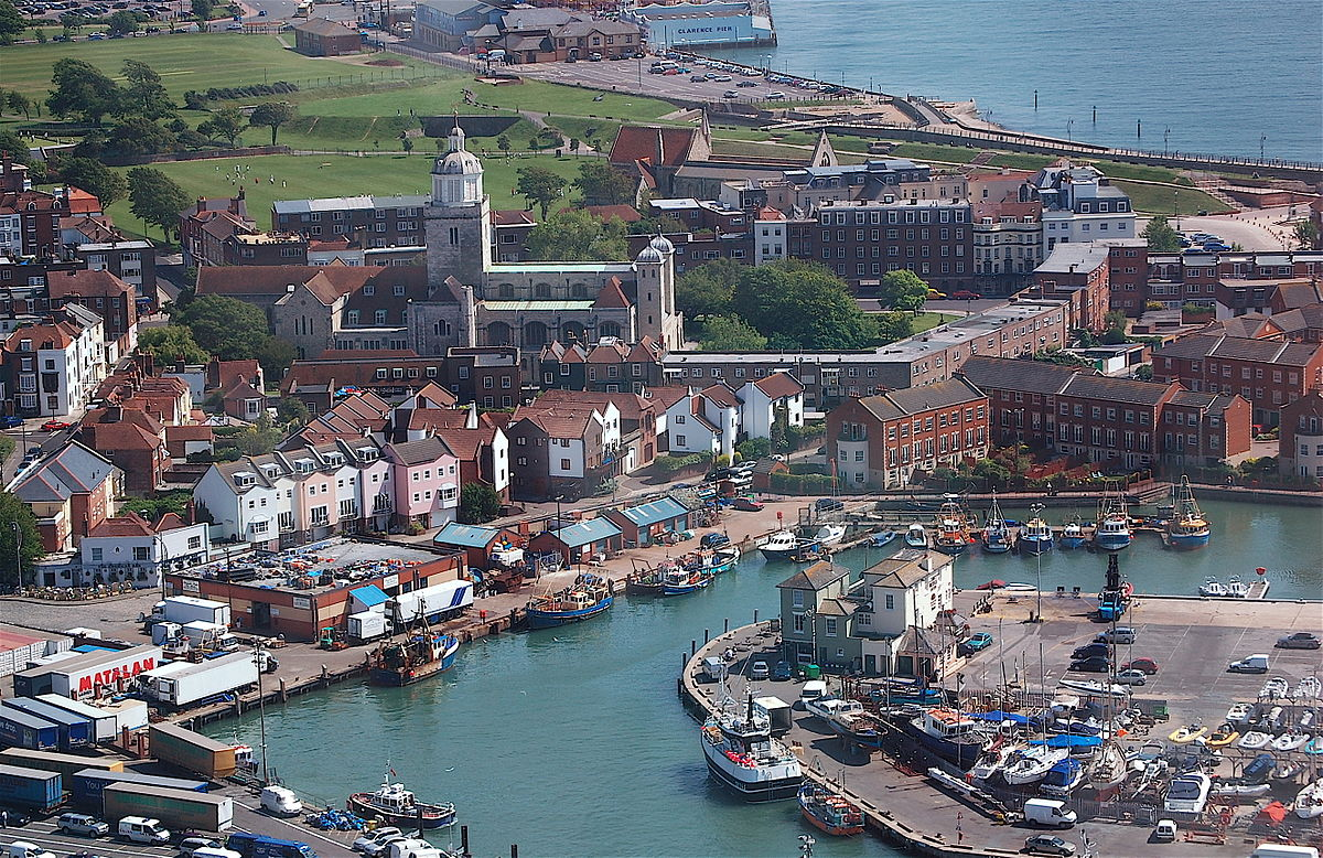 Portsmouth aerial view