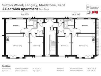 2 bed first floor apartment in Langley, Maidstone