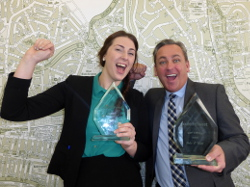 Jessica and John from Brighton celebrating their awards