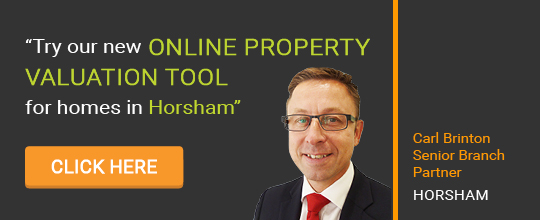 Online Valuation Tool website banner Horsham