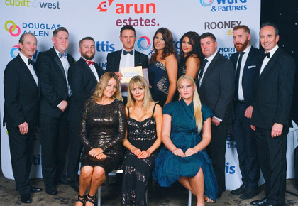 The Sutton Team at the Arun Estates Sales Conference 2015 having won Top Lister and Top Office