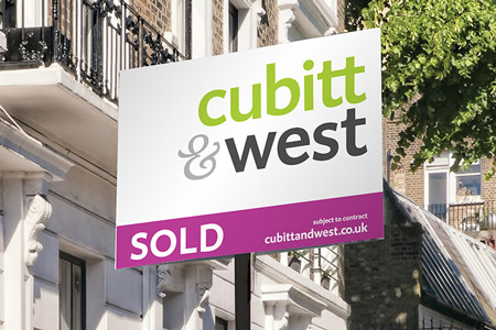 A Cubitt & West sold board