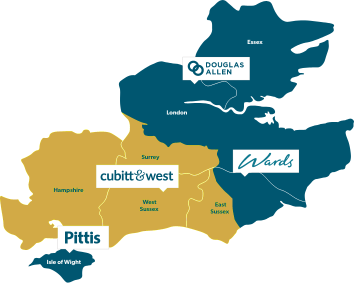 Cubitt and west map