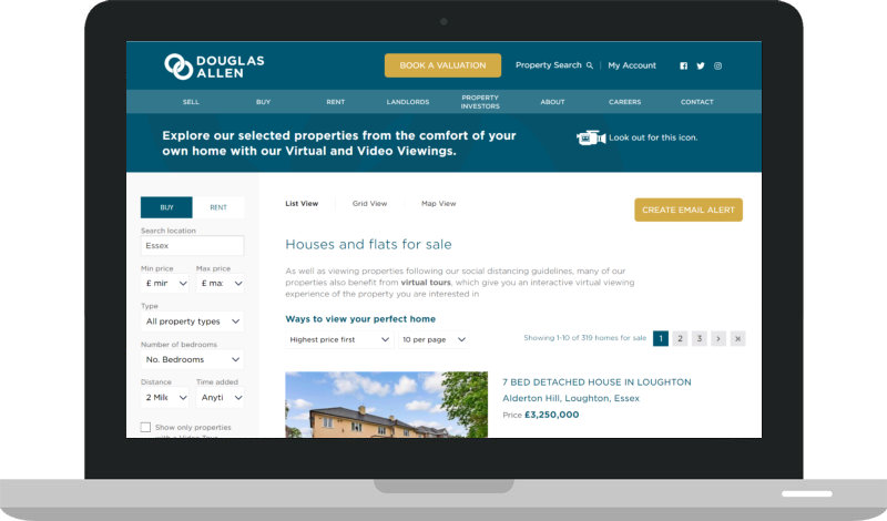 Property search preview